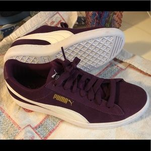 New Purple Suede Puma Sneakers Women's Size 8